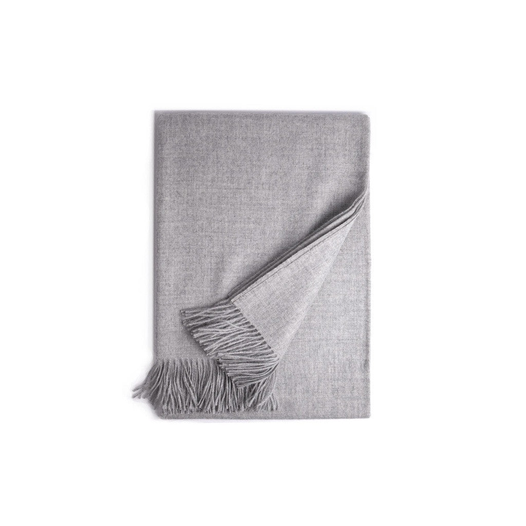 Stone Baby Alpaca Throw - PureLivingSpace.com