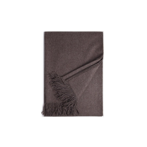 Taupe Baby Alpaca Throw - PureLivingSpace.com