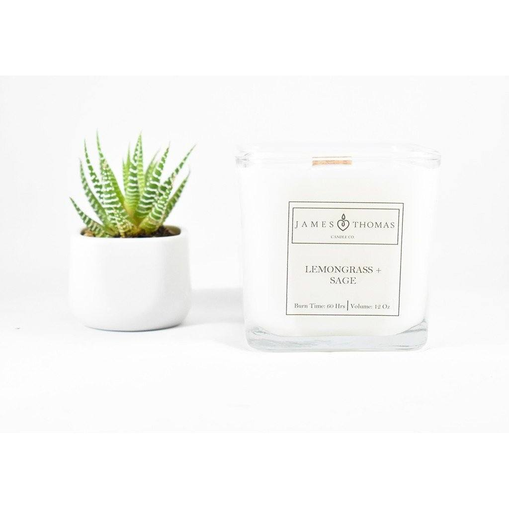 Lemongrass + Sage Classic Collection Candle - PureLivingSpace.com