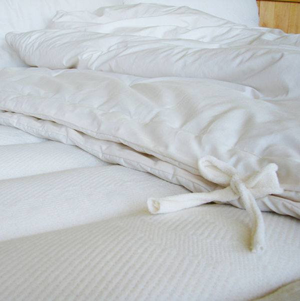 All Season Convertible Comforter - 100% Eco-Wool covered in Organic Cotton - PureLivingSpace.com