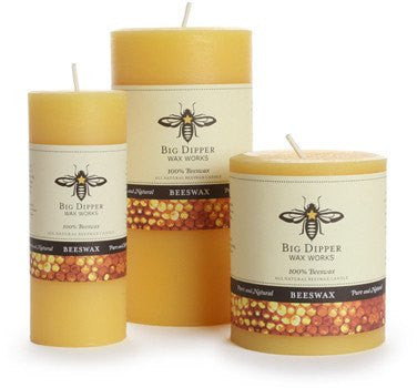 Beeswax Pillar Candles - PureLivingSpace.com