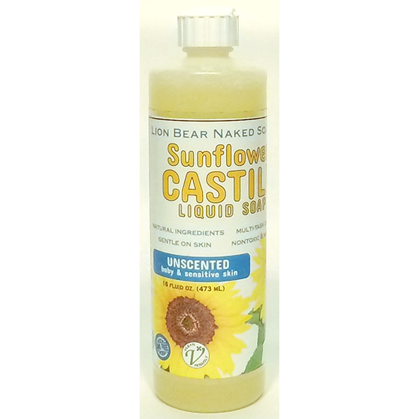 Sunflower Castile Liquid Soap 16 oz. - Lion Bear - PureLivingSpace.com