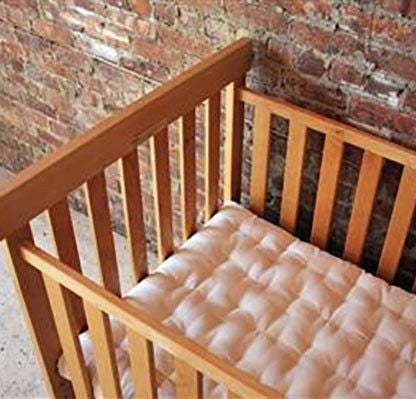 100% Natural Cotton and Wool Crib Mattress - No Chemical Flame Retardants