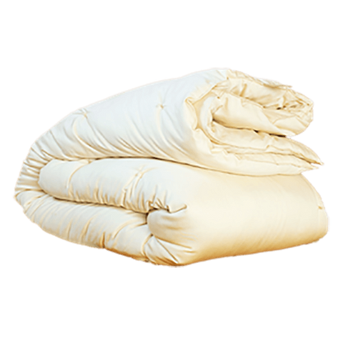 100% Eco-Wool Duvet Comforter Encased in Organic Cotton - PureLivingSpace.com