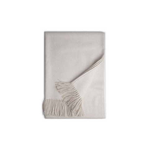 100% Baby Alpaca Throw - Bone - PureLivingSpace.com