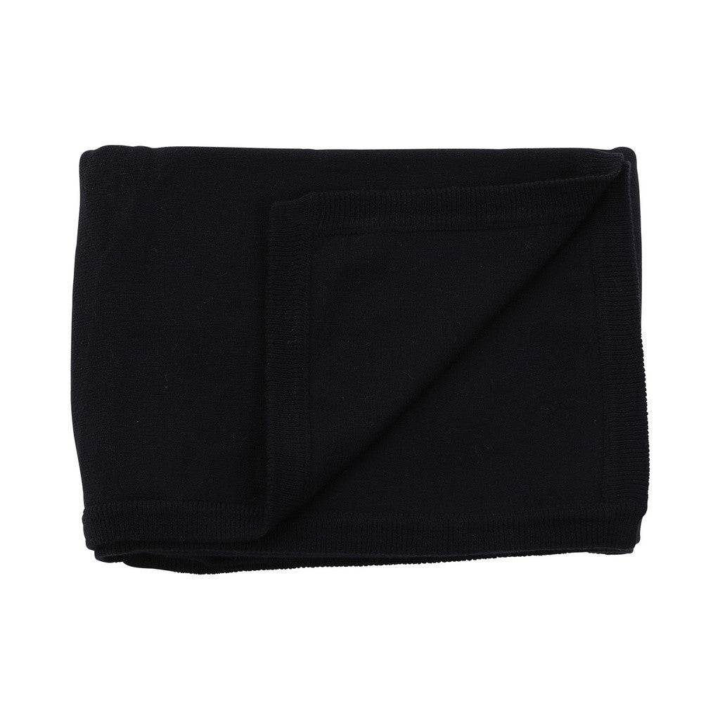 100% Organic Cotton Cashmere Blanket - Navy - PureLivingSpace.com