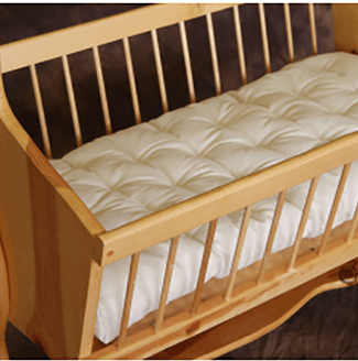 100% Eco-Wool and Organic Cotton Bassinet Mattress - No Chemical Flame Retardants