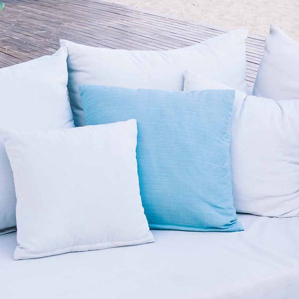 Organic Cotton Twill Decorative Pillow Cover - PureLivingSpace.com