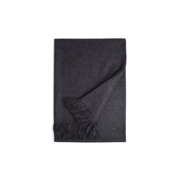100% Baby Alpaca Throw - Carbon