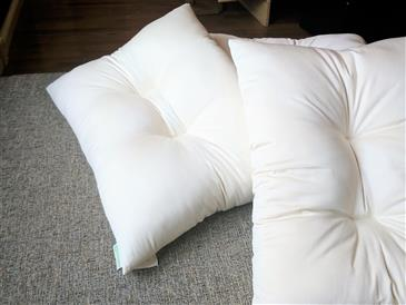 Contour Pillow 100% Natural Kapok - PureLivingSpace.com