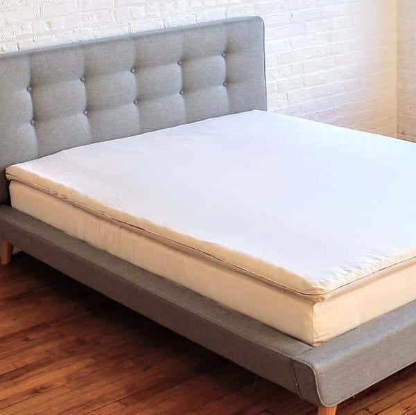 100% Natural Latex and Wool Mattress Topper with Organic Cotton Cover - PureLivingSpace.com