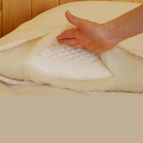 100% Natural Solid Latex Wrapped in Eco-Wool Pillow - PureLivingSpace.com