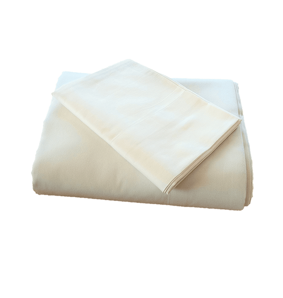 100% Organic Cotton Sateen Pillow Cases - Natural Color - PureLivingSpace.com