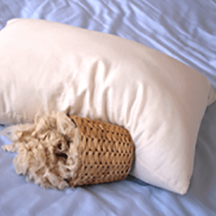 100% Natural Kapok Pillow - Queen, King, Travel