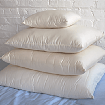 100% Virgin Lambswool Pillow with Organic Cotton Cover