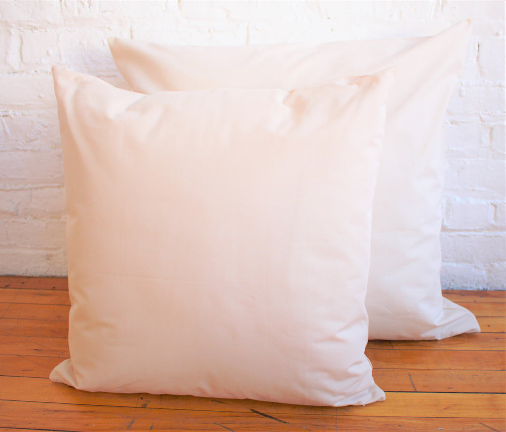 100 Organic Cotton Pillow Decorative Inserts Pure Living Space