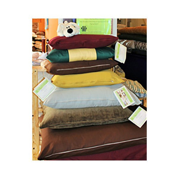 Organic Cotton Dog Bed with Organic Cotton Cover - PureLivingSpace.com