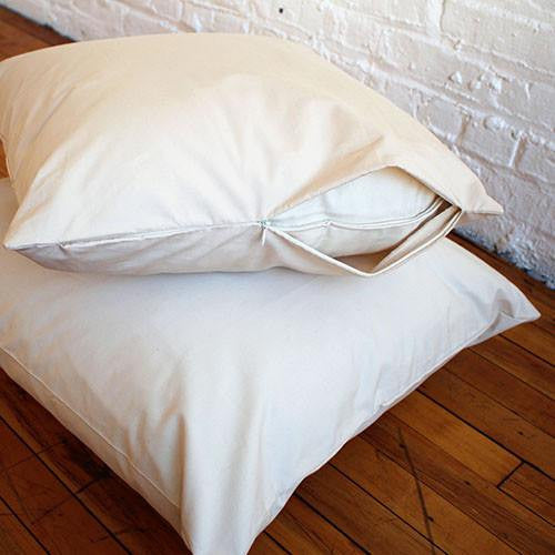 Organic Cotton Pillow Protective Cover - PureLivingSpace.com