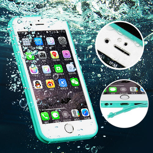 100% Sealed Water Resistant Waterproof Case For coque iPhone 7 7plus 6 6S Plus 5 5SE Silicone Case 360 Front Back Soft TPU Cover