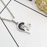 2 Parts Broken Heart Necklace For Lover Couple Fashion Jewelry