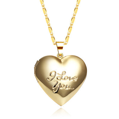 Silver/Gold Plated Romantic Hear Love Necklace