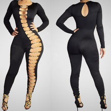 Sexy Rompers For Women Chain Bodysuit Bandage Playsuit