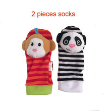 Rattle Animal Foot Finder Socks & Wrist Strap Soft and Comfortable