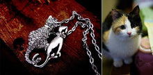 Couple lovers Cats Pendant 18K GP Necklace Sweater chain fashion jewelry
