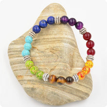 7 Chakra Bracelets Bangle Colors Mixed Healing Crystals Stone Chakra Pray Mala Bracelet Summer Jewelry