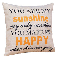 Romantic Valentine Day Cotton Linen Cushion Cover Pillowcase Simple Style Quote Love Pattern Waist Throw Pillow Cover