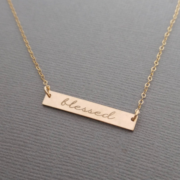 8a138b6248e891 Blessed Necklace in Gold-Filled – UrbanSarahCloset