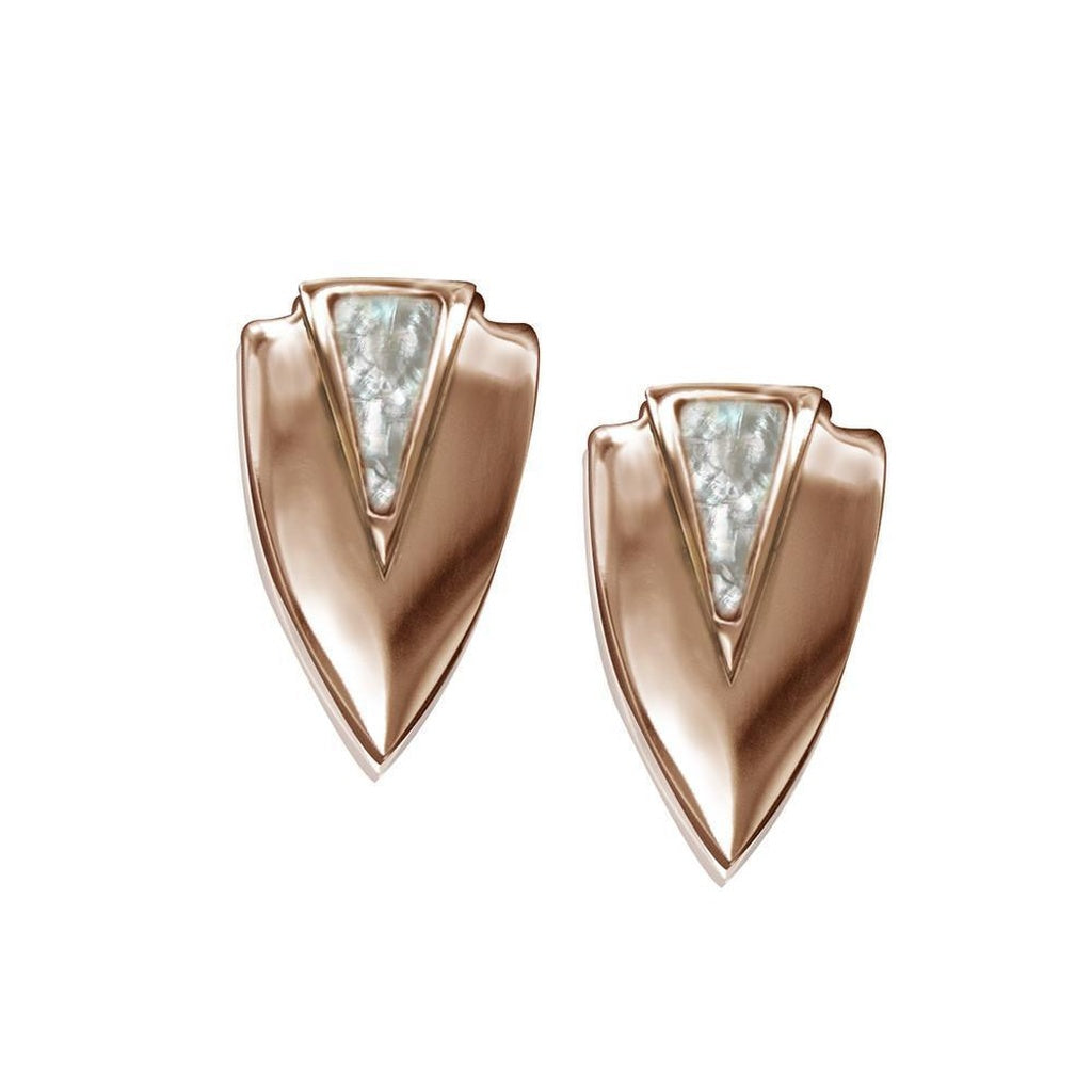Chevron Earrings- Rose