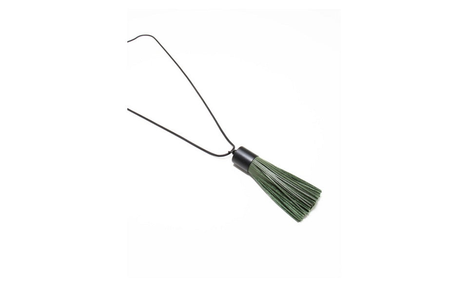 Dhillon Leather Tassel Necklace