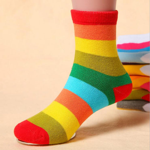1 Pair Cotton Striped Kids Socks  Choose For Boy or Girl
