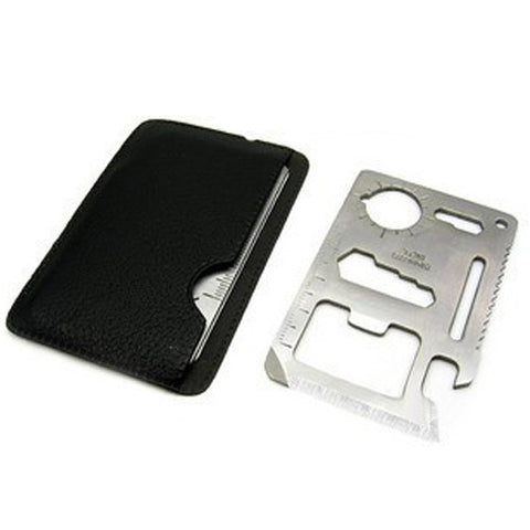 11 in 1  Wallet Size Multi Function Survival Tool