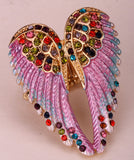 Angel Wings Comfort Stretch Ring With Crystals/ Free Shipping
