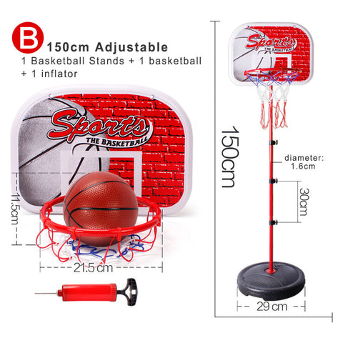 Childrens Basketball Adjustable Height Hoop /Set Includes Child Size Basketball, Inflater and Hoop Free Shipping