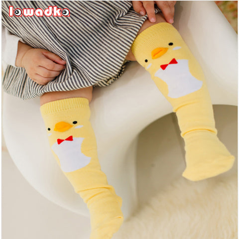 Cute Soft Cotton Girls Or Boys Socks  Duck, Penguin or Bear  Design Long Socks/ FREE SHIPPING