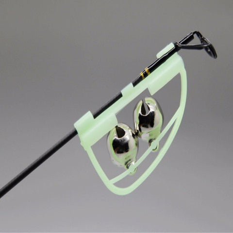 Glow In The Dark  Fishing Rod Tip Clip Twin Bell Alarm For Every Great Fisherman