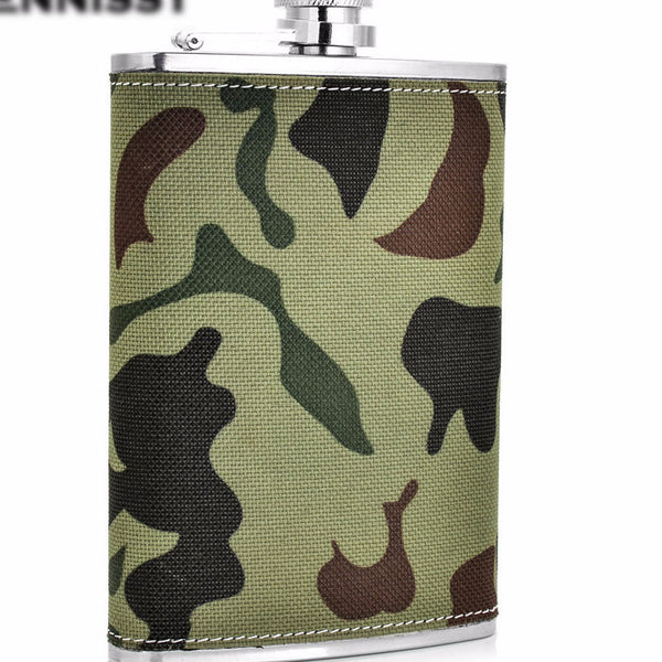 For the ultimate SPORTSMAN/ Stainless Steel Mini Military Flask Camouflage Pattern  9oz  Flask