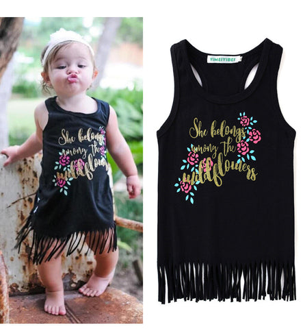Toddler Girl Cotton Tassel Dress