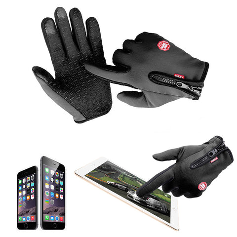 Windstopper Full Finger Riding  Gloves with Touch screen Capabilities/Free Shipping