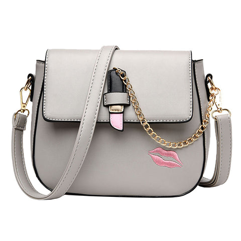 Cute Summer  Crossbody Bag  With Lipstick  And Lips