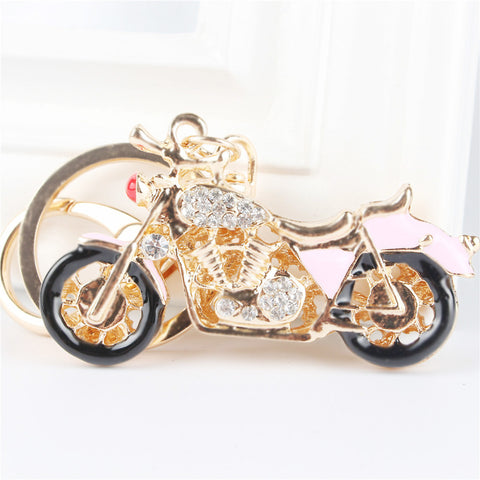 Motorcycle Rhinestone Crystal  Key ring