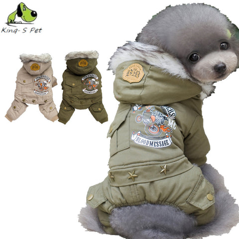 New Pet Warm Winter  Coat 100%  Cotton Jacket Four Leg Clothing For Dogs/ FREE Shipping