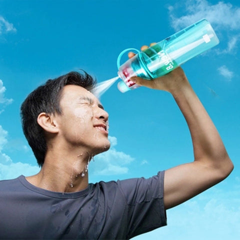 New Creative Sports Spray Water Bottle for Outdoor  Sports or the Gym in 400ML or 600ML / Free Shipping