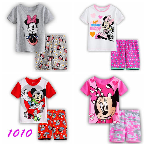 Summer Cartoon Pajamas Cotton