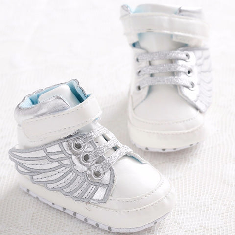 Newborn Baby Fashion  Pre-walkers Shoes With Wings. Velcro Closure