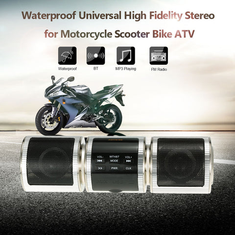Waterproof  High Fidelity Stereo Speaker System for Motorcycles, Scooters, Bikes and ATV's