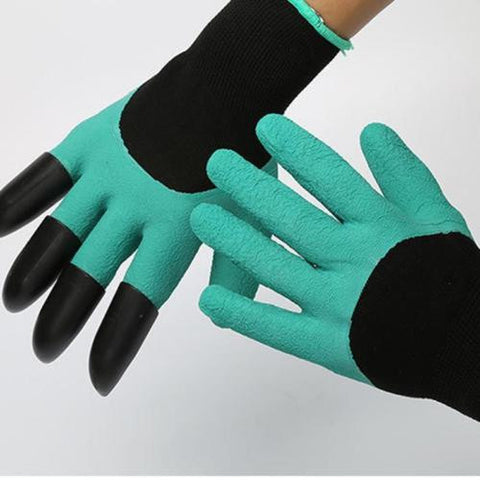 Garden Gloves for Digging & Planting with 4 ABS Plastic Claw